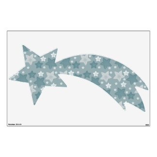 Blue Watercolor Stars Wall Sticker