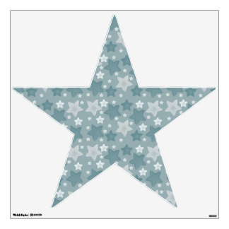 Blue Watercolor Stars Wall Decal