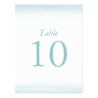 Blue Watercolor Table Numbers Postcard