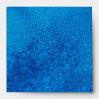 Blue watercolor texture envelope