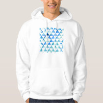 Blue Watercolor Triangle Design Hoodie
