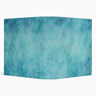 Blue Watercolor Turquoise Paper Background 3 Ring Binder