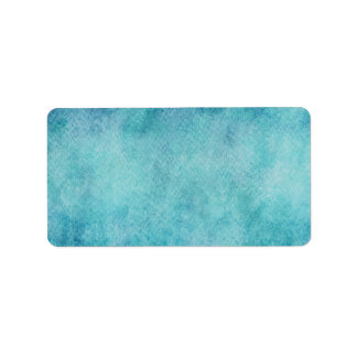 Blue Watercolor Turquoise Paper Background Label