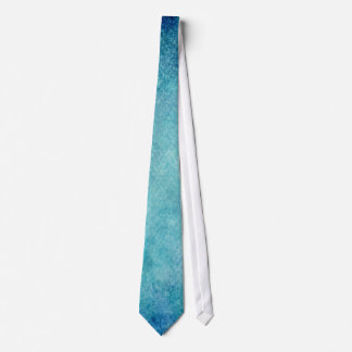 Blue Watercolor Turquoise Paper Background Neck Tie