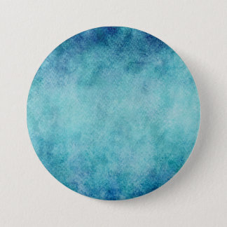 Blue Watercolor Turquoise Paper Background Pinback Button