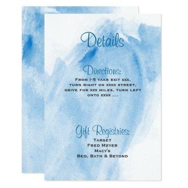ericksondesigns Blue Watercolor Wedding Details Card