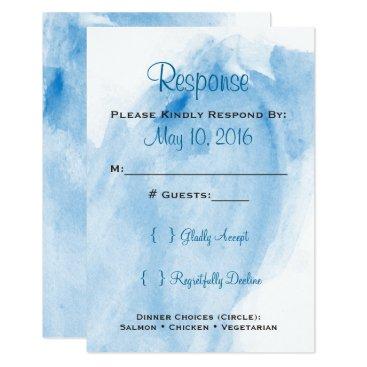 ericksondesigns Blue Watercolor Wedding RSVP Card