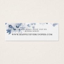 Blue Watercolor Wedding Website Card