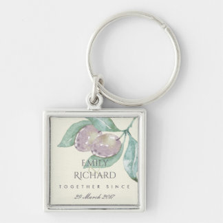 BLUE WATERCOLOUR OLIVE SAVE THE DATE WEDDING GIFT KEYCHAIN