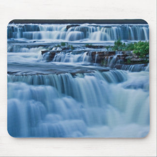 Blue Waterfall Mouse Pad