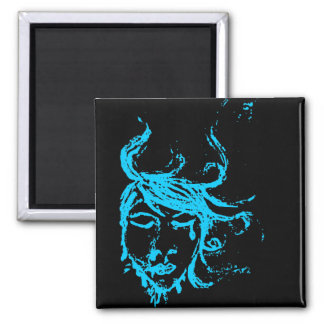 blue waters 2 inch square magnet