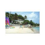 Blue Waters Beach, Antigua Gallery Wrap Canvas