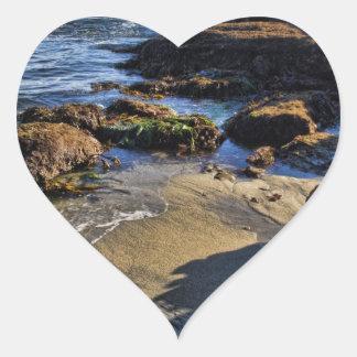 Blue Waters Heart Sticker