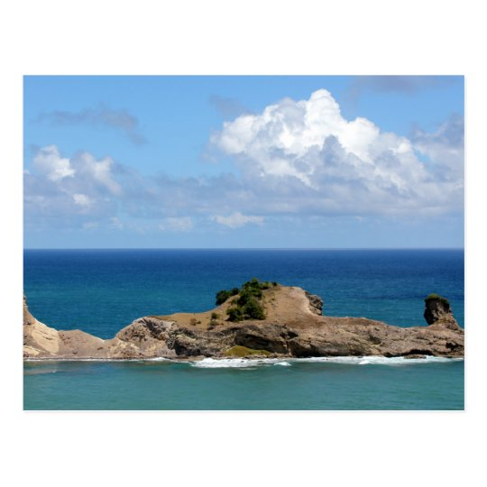Blue Waters Off Laborie, St. Lucia Postcard