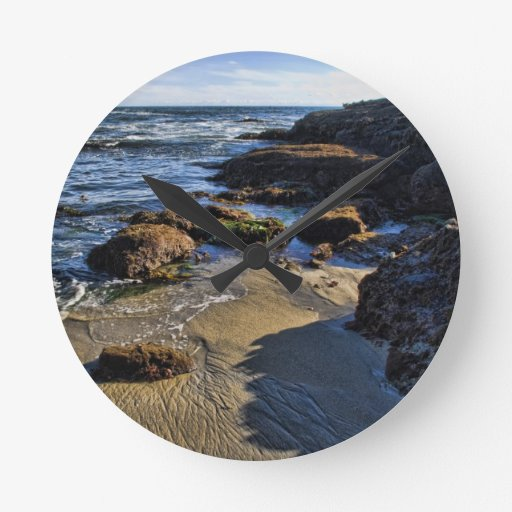 Blue Waters Round Wall Clock