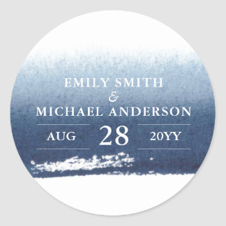Blue Waters   Stickers Wedding Save the date Navy