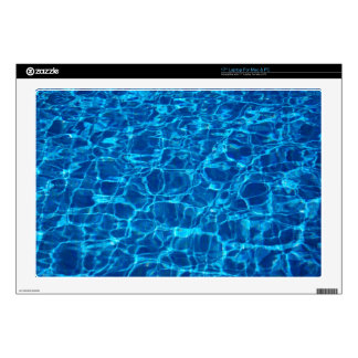Blue Waters Swimming Pools Patterns Waves Ripples Laptop Decal