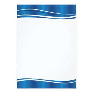 Blue Wave 3.5x5 Paper Invitation Card