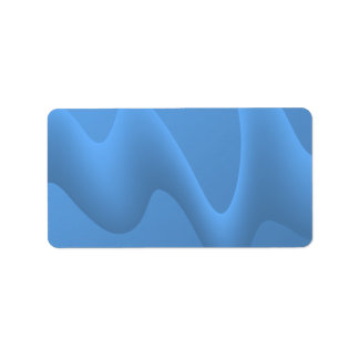 Blue Wave Abstract Image Design. Personalized Address Label