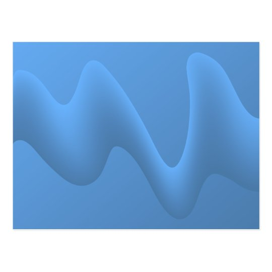Blue Wave Abstract Image Design. Postcard