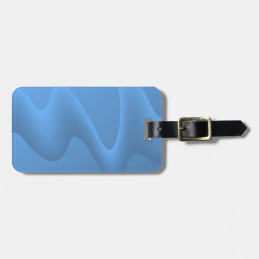 Blue Wave Abstract Image Design. Tag For Luggage