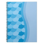 Blue Wave and Fish Scale Pattern Note Book
