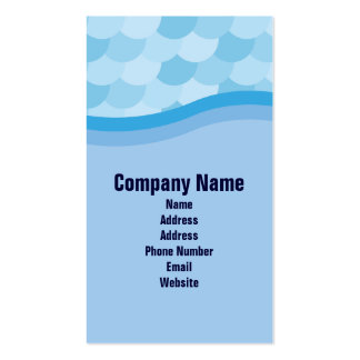 Blue Wave and Fish Scale Pattern Portrait Business Card