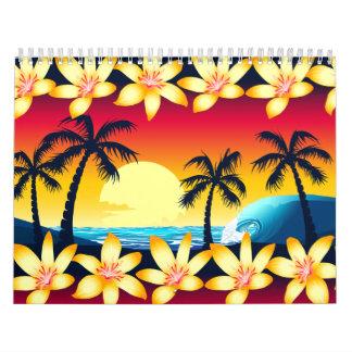 Blue wave at sunrise calendar