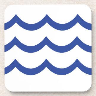 BLUE WAVE BEVERAGE COASTER