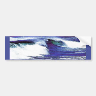 Blue Wave Bumper Sticker