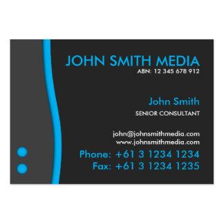 Blue Wave Business Card (Dark)