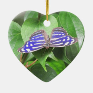 Blue Wave Butterfly Ceramic Ornament