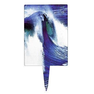 Blue Wave Cake Topper