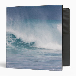 Blue wave crashing, Maui, Hawaii, USA 3 3 Ring Binder