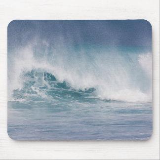 Blue wave crashing, Maui, Hawaii, USA 3 Mouse Pads
