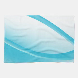 Blue Wave Energy Beam Background Kitchen Towel