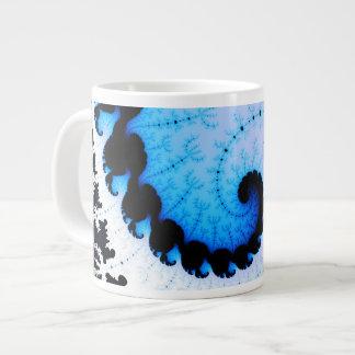Blue Wave - fractal art Giant Coffee Mug