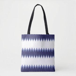 Blue Wave Fringe Pattern Tote Bag