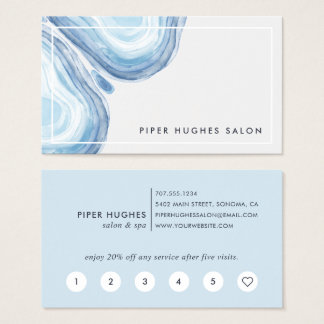 Blue Wave Geode   Loyalty Business Card