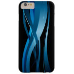 Blue Wave Modern Abstract Pattern Barely There iPhone 6 Plus Case