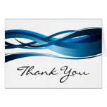Blue Wave Modern Abstract Thank You Card