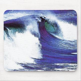 Blue Wave Mouse Pad
