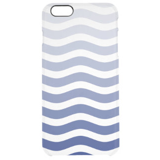 Blue Wave Ombre Clear iPhone 6 Plus Case