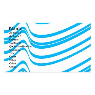 Blue Wave Pattern Business Card