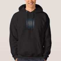 Blue Wave Pattern Hoodie