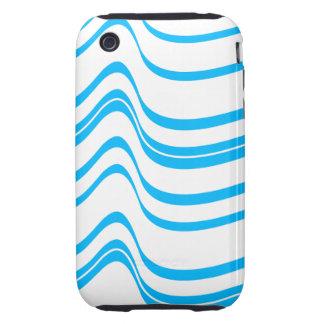 Blue Wave Pattern Tough iPhone 3 Cases