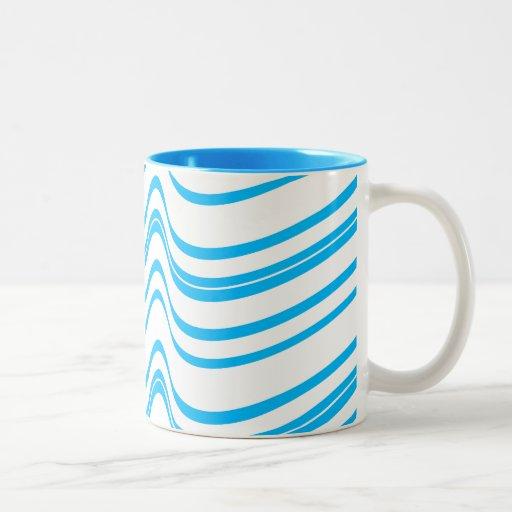 Blue Wave Pattern Two Tone Coffee Mug Zazzle