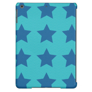 blue wave patterns lines iPad air cover