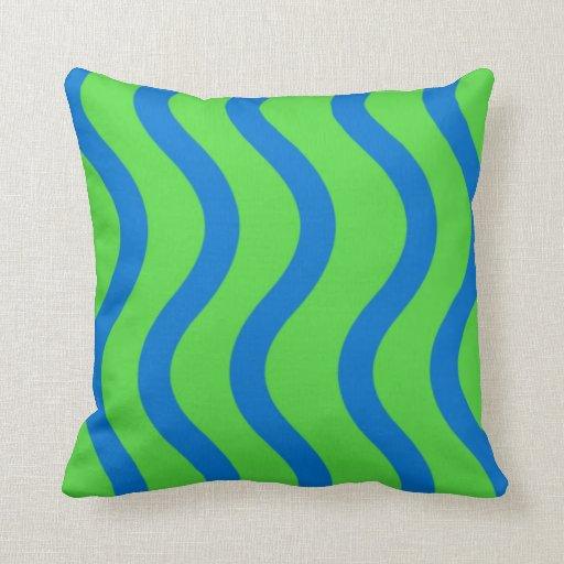 Blue Wave Pillow Zazzle