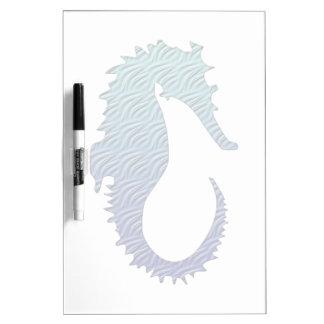 Blue Wave Seahorse Dry-Erase Board
